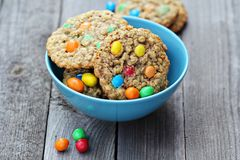 Cookies with colorful candies Stock Photo