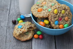 Cookies with colorful candies Stock Image