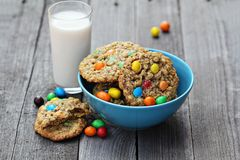 Cookies with colorful candies Royalty Free Stock Image