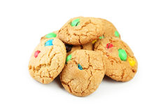 Cookies with colorful candy Stock Photos