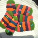 Cookies. Colorfull rainbow caterpillar cookies Stock Photography