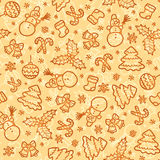 Cookies colors christmas vector seamless pattern Royalty Free Stock Photos