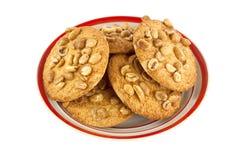 Cookies com amendoins Fotografia de Stock Royalty Free