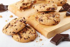 Cookies com chocolate Foto de Stock Royalty Free