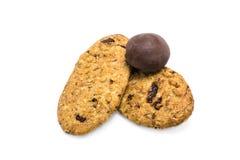 Cookies com chocolates Imagens de Stock Royalty Free