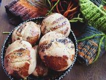 Cookies com confecção de malhas Imagem de Stock Royalty Free
