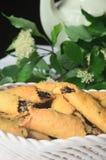 Cookies com doce do fruto Imagens de Stock Royalty Free