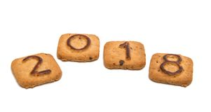 Cookies com figuras 2018 Fotos de Stock Royalty Free