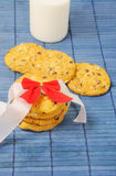 Cookies com leite Foto de Stock