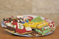 Cookies com projeto especial do Natal foto de stock