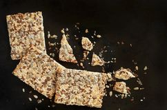 Cookies com sementes diferentes Imagens de Stock