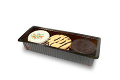 Cookies in container Stock Photography