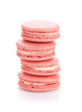 Cookies cor-de-rosa do macaron Fotografia de Stock Royalty Free