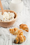Cookies and cottage cheese Royalty Free Stock Image