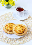 Cookies with cottage cheese on a white plate Royalty Free Stock Image