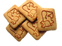 Cookies with a cow on it Stock Images