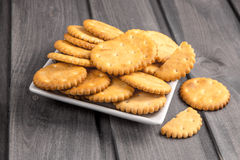 Cookies a cracker round Royalty Free Stock Photos