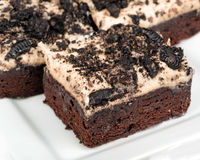 Cookies and cream brownies Stock Images