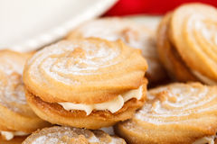 Cookies with a cream filling Stock Photo