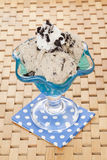 Cookies and cream ice cream Stock Image
