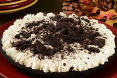 Cookies and cream pie Royalty Free Stock Photography