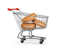 Cookies cream shopping card Stock Photo