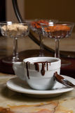 Cookies and cup of chocolate Stock Images