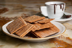 Cookies and cup of chocolate Royalty Free Stock Images