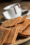 Cookies and cup of chocolate Royalty Free Stock Photo