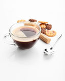 Cookies and cup of coffe Royalty Free Stock Image
