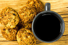 Cookies and cup of coffe Stock Photography