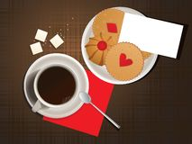 Cookies and cup of coffee. Royalty Free Stock Photo