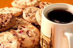 Cookies with a cup of coffee Stock Photography