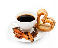 Cookies and cup of coffee Royalty Free Stock Photography