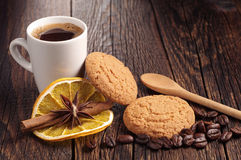 Cookies and cup of coffee Royalty Free Stock Image