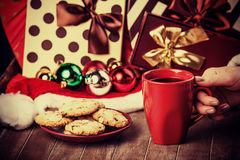 Cookies, cup of coffee Royalty Free Stock Photos