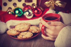 Cookies, cup of coffee Stock Photography