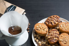 Cookies and a cup of coffee Stock Images