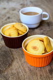 Cookies and cup of coffee Royalty Free Stock Photos