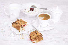 Cookies and a cup of espresso Royalty Free Stock Photos