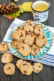 Cookies and a cup of hot tea Royalty Free Stock Photography