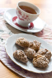 Cookies and a cup of tea Stock Photos