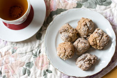 Cookies and a cup of tea Stock Photography