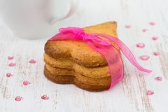 Cookies with cup of tea Royalty Free Stock Photos