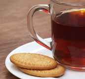 Cookies with cup of tea Royalty Free Stock Photo