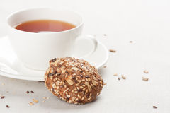 Cookies and cup of tea Royalty Free Stock Image