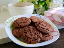 Cookies. And a cup of white tea Stock Photography