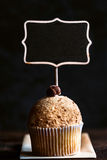 Cookies cupcake and chalkboard Royalty Free Stock Images