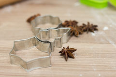 Cookies Cutter Christmas Stock Images