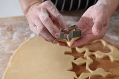 Cookies cutter forms Royalty Free Stock Images